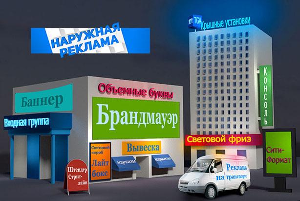 наружная реклама Луганск
